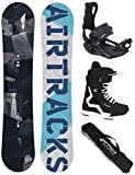 Airtracks Snowboard Set - Board Jungle Wide 160 - Softbindung Master - Softboots Savage Black 44 - SB Bag