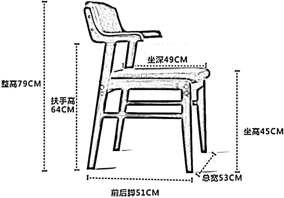 WHOJA Bois massif Chaise de salle à manger, fauteuil Loisirs de loisirs Chaise de café Chaise de bureau Cuir artificiel 79x53x51cm Chaises d'angle (Color : Beige) Green
