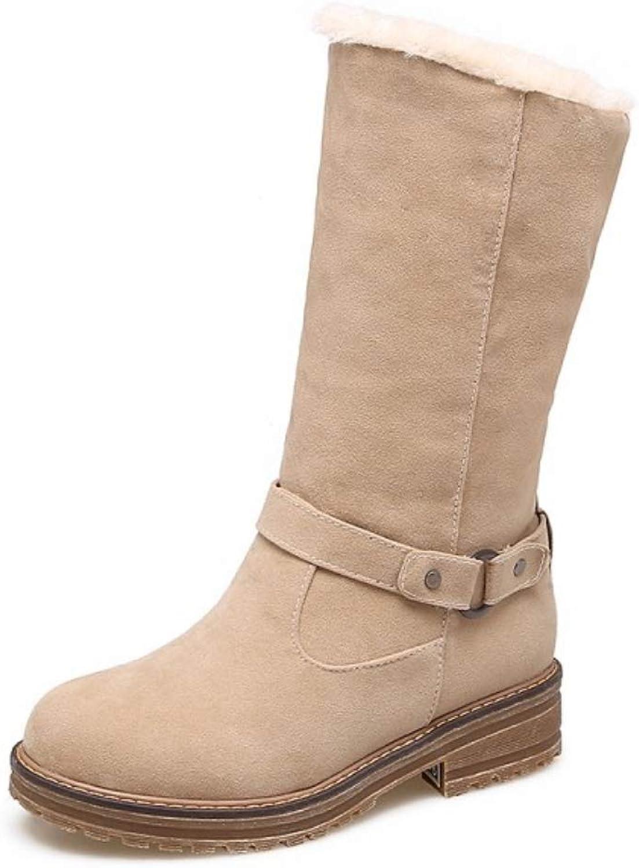 Modeskor för midCalf  vinterskor för för för kvinnor med päls för vinter Ökning av skor med blomkolvar, tillfällig platt snösko Storlek 40 -43 snöskor  lagra på nätet