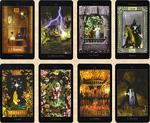 Tarot Vision en français - Jeu de 78 Cartes - Cartes de voyance avec Explication complète des 78 Lames (livret en FR) - Tarot Medieval divinatoire Moderne