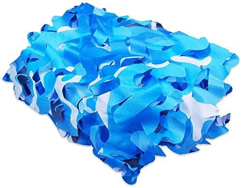 HTTWZW Woodland Azul Ejército Red, Red de Camuflaje Militar Océano Azul Red de Caza Que acampa Persianas Que tiran del Partido Camuflaje Red de protección Solar Decoración, 3x3m / 10x10ft, 4x6m / 12