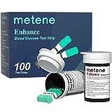 Metene Enhance Blood Sugar Test Strips, 100 Count Test Strips for Diabetes, Use with Metene Enhance Blood Glucose Monitor Only (Model: Enhance)