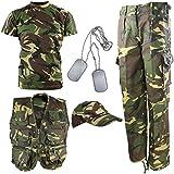 Kombat UK per Bambini DPM Camouflage Explorer Army Kit - Vestito Mimetico da Esploratore, Bambino, DPM, Camo, 7-8 Anni