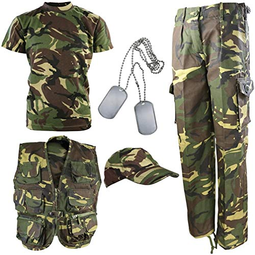 Kombat UK niños Kit del ejército DPM Camuflaje Explorer, Infantil, Color Camuflaje, tamaño 7-8 años