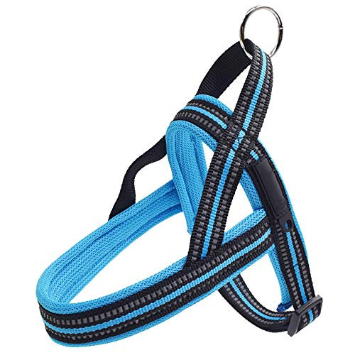FEKGHJMO Heavy Dog Pet Arnés Collar Ajustable Reflective Security Big Large Medium Small Small Harnesses Chaleco Perros Suministros