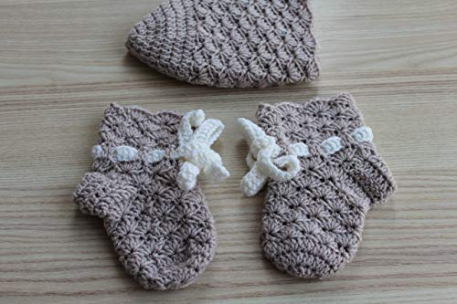 Baby-Set: Mütze + Söckchen aus reiner Wolle Erstausstattung