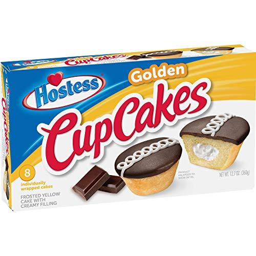 Hostess Golden Cupcakes - 360g (8 Cakes) - Hostess Cup Cakes …
