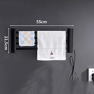 CWYPC 50w Toallero Electrico Baño, Radiador Toallero Calentador Eléctrico De Toallas Toallero De Pared Temperatura Constante Electrico Bajo Consumo Interruptor De Un Botón 55 * 21.5CM