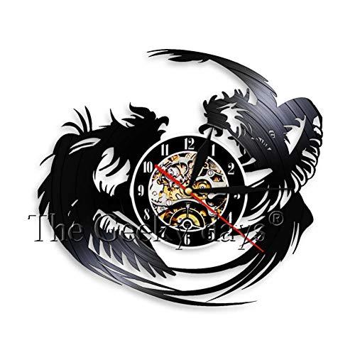 txyang Reloj De Pared De Martillo Polla Dura Lucha Club Taekwondo Disco De Vinilo Reloj De Pared Casa De Campo Decoración De La Pared 12 Pulgadas