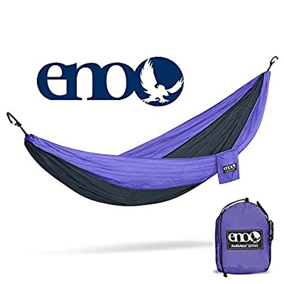 ENO, Eagles Nest Outfitters DoubleNest Lightweight Camping Hammock, 1 to 2 Person, Purple/Charcoal