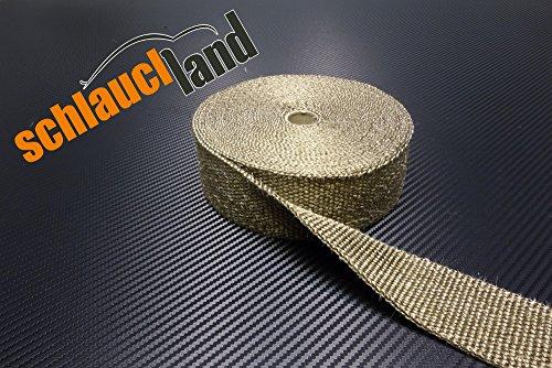 20m Titan Hitzeschutzband 25mm 1400°C SCHLAUCHLAND*** Auspuffband Thermoband Krümmerband Heat Wrap Basaltfaser Isolierband