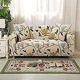 QSCV Mascotas Antimanchas Funda Sofá,Modelo Diseñada Impreso Protector De Muebles Anti-resbalón Cubiertas De Couch para Chaise Longue,Elasticidad La Funda para Sofa-Pattern-4 2-Seater 145-185cm