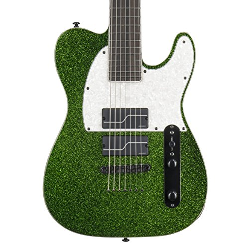 ESP LTD SCT-607 Baritone Signature Series Stephen Carpenter Electric Guitar with Case, Green Sparkle