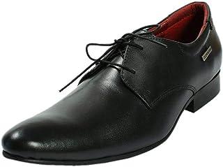 Maplewood Black Genuine Leather Wellington Shoes For Men