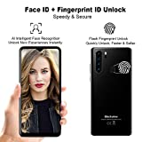 Blackview A80 Pro Mobile Phone,Smartphone Quad Rear Camera Dual SIM Free Android Phones with 4680mAh Big Battery, 6.49 inches Waterdrop Full-Screen, 4GB RAM+64G ROM, Fingerprint, Face ID - Black