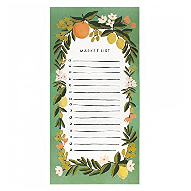 Rifle Paper Co. Citrus Floral Market List Magnetic Note Pad