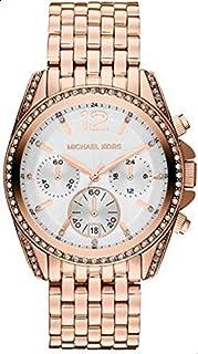 ساعة بريسلي بسوار من الستانلس ستيل ومينا ابيض للنساء من مايكل كورس - MK5836