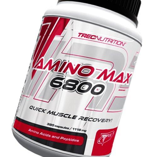 Amino MAX 6800 - recuperación Muscular rápida - cápsulas Ultra-Puros aminoácidos con añadido L-glutamina, taurina y vitaminas - TREC Nutrition (160caps / 320caps / 450caps)
