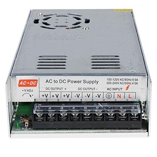12V 30A Netzteil Schaltnetzteil 1220V DC 30A 360W Adapter Transformator für 3D Drucker, LED Beleuchtung und Industrieanlagen Spannungsregulierung am Ausgang