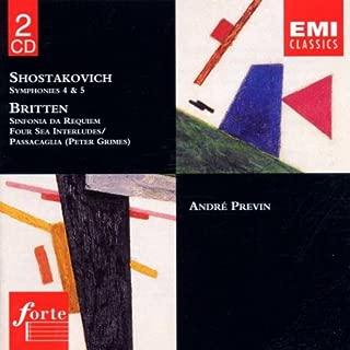Shostakovich & Britten / Symphonies 4 & 5 / Four Sea Interludes