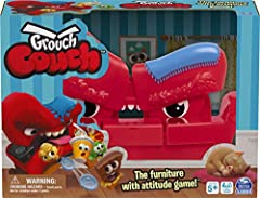 GROUCH COUCH COMES ALIVE: Press the remote control and Grouch Couch grumbles, chomps, burps, eats treats and spits out Lost Goodies UNIQUE SOUNDS: The couch randomly responds to treats with different, unique sounds. Hear a special victory song at the...