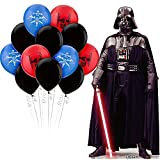 Party City Star Wars Darth Vader Freestanding Life-Size Cardboard Cutout and Balloon Kit, Party Supplies, 22 Pieces