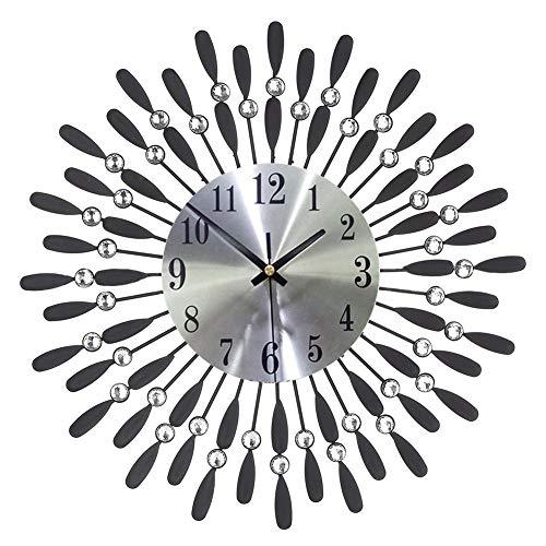 XMBT Runde Quarzwanduhr-Kreative Uhr Klassische Retro Uhr Wanduhr Wanduhren Batteriebetriebenes, Nicht tickendes Big Number Silent Bedroom Stille Hängeuhr für den Innenbereich Wanduhr
