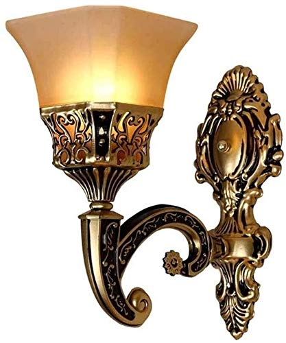 FZDLLFang Lampada da Parete Decorativa, Soggiorno Doppia Testa Lampada da Comodino Balcone Corridoio Soggiorno Retro LED Mediterraneo Camera