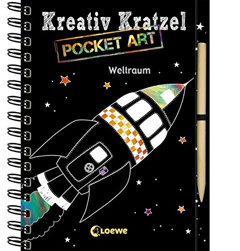 Kreativ-Kratzel Pocket Art: Weltraum: Kritz-Kratz-Beschäftigung zum Mitnehmen für Kinder ab 5 Jahre (Kreativ-Kratzelbuch)