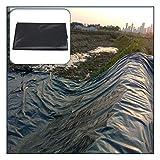 GAOYUY Teichfolie, Flexible Fischteichfolien Gartenpools Membranverstärkte Landschaftsgestaltung Für Fischteiche, Zisternen, Wasserschutzprojekte (Color : Black, Size : 3X12M)