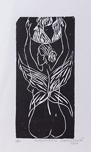 Xilography, Protecting us, artwork prints woodblock print, handmade printed, Mother Nature, Costa Rica, home decor, Black friday, Christmas, Sabrina Vargas-Jimenez