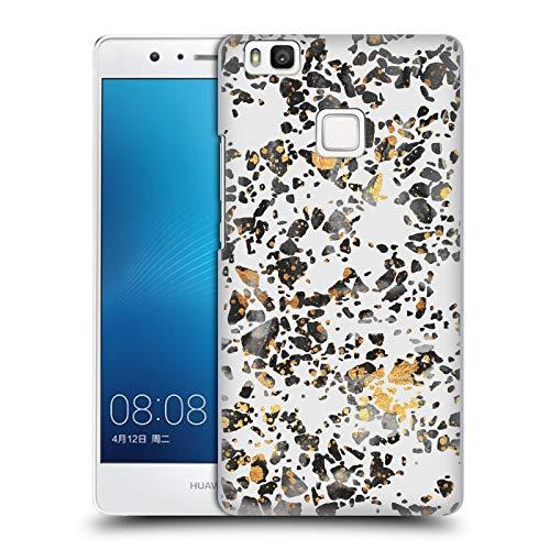 Head Case Designs Oficial Elisabeth Fredriksson Terrazo Moteado Dorado Brillos Carcasa rígida Compatible con Huawei P9 Lite / G9 Lite