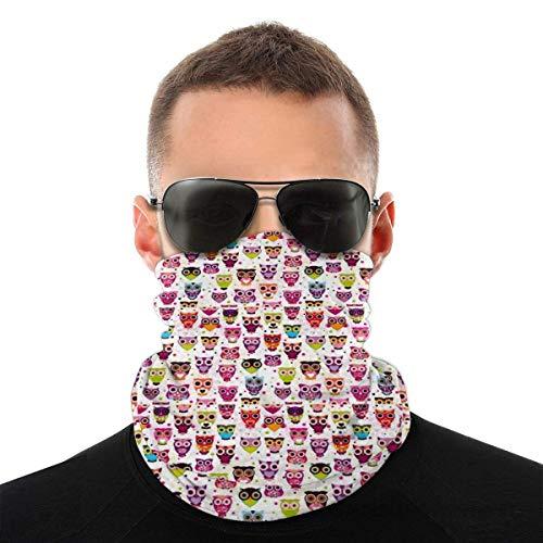Bandeau, écharpe Bandana sans couture élastique cool hibou mignon, série de chapeaux de sport de résistance aux UV pour Yoga randonnée équitation moto