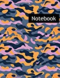 Camouflage Background Uniform : College Ruled Notebook & 2020 Planner: Lined notebook...