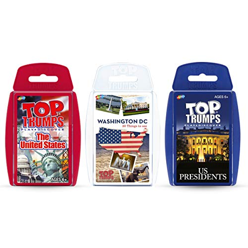 Red, White and Blue Top Trumps Card Game Bundle