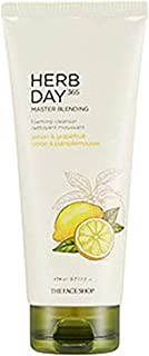 The Face Shop Herb Day 365 Master Blending Lemon and Grapefruit Facial Foaming Cleanser, Dry, 170 ml
