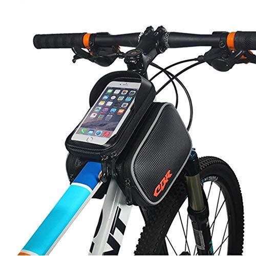 Sac Étanche Guidon Vélo Téléphone Porte-châssis Avant Sac Tactile en Forme D'écran for Téléphone Portable 5,5 Pouces Ou Moins