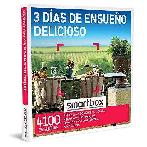 SMARTBOX - Caja Regalo - 3 días de ensueño Delicioso - Idea de Regalo - 2 Noches con Desayuno y 2 cenas o SPA o 1 o 2 Noches con Desayuno para 2 Personas