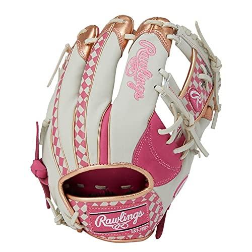 ローリングス(Rawlings) 大人用 右投げ用 野球用 軟式 グラブ グローブ 軟式 HOH(R) 2020 AGAIN [内野手用] ピンク/ホワイト 11.25インチ GR1FH20N62