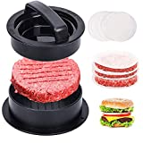 DUSTION 3 in 1 Burgerpresse Set - Hamburgerpresse Patty Maker für perfekte Burger, Patties oder...