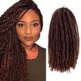 Lihui 6packs Marley Hair 18Inch Marley Braiding Hair Havana Twists Hair Faux Locs Crochet Hair marley hair for twists (18inch, 1B/30)