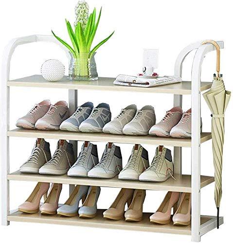 Yxsd Zapatero 70 cm de ancho marco de compartimentos de almacenamiento Organizador vertical Plataforma Organizador En la hojalata + tarjeta de madera, ideal for pasillo, baño, sala de estar y el pasil