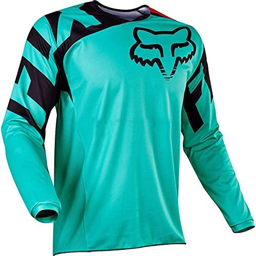 YMWL Homme Respirant Maillot Cyclisme Manches Longues Vélo Jersey VTT Vêtements Manche Courte Séchage Séchage Rapide Cyclisme Tee Shirt