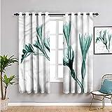 Pcglvie Cortinas de flores para dormitorio, cortinas de 72 pulgadas de largo con pétalos abstractos florecientes para mantener un buen sueño de 63 x 72 pulgadas