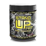 Pump-Booster ohne Koffein und Creatin 600g | NF24ARMY Stand-Up Pump Pre-Workout Pulver | vegan | mit Arginin, Citrulln, Glycerol, Maltodextrin | Geschmack Kirsche | ideal vor dem Training