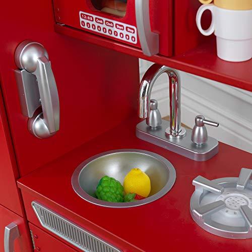 KidKraft 53173 Vintage-Spielküche aus Holz, Rot - 6