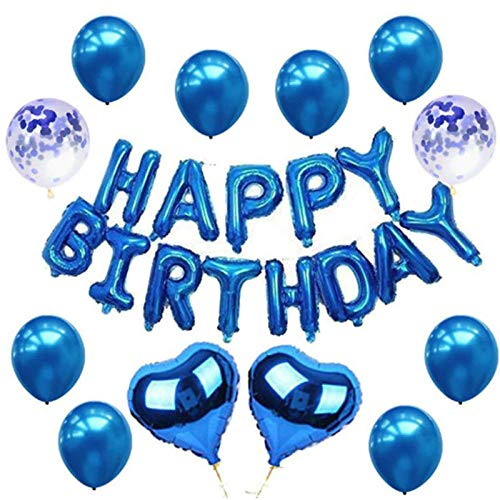 Why Should You Buy GLOVEWAR Party Supplies Black Happy Birthday Letter Balloon Set Birthday Party De...