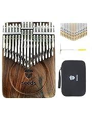 Alsophila カリンバ 34キー 二段の半音階seeds kalimba 正規品親指ピアノ楽器 バージョンアップは黒クルミから作されています二重EVA保護オルガンケース