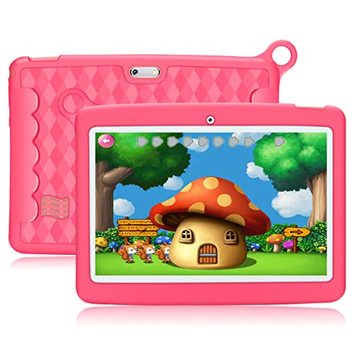 10.1'' Inch Kids Tablet,PADGENE Android 8.1 Pad Quad Core Processor,1280x800 IPS HD Display,1GB Ram 16GB Rom,Kidoz&Google Play Pre-Installed with Kid-Proof Case