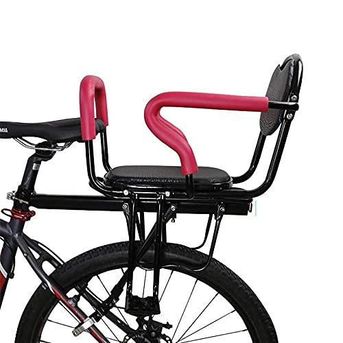 litulituhallo Asiento de bicicleta para bebé con cinturón de seguridad apoyabrazos traseros y pedales acolchados